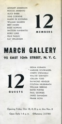 1957 March Gallery 12 Members