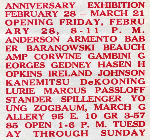 1958 Anniversary Exhib March Gallery