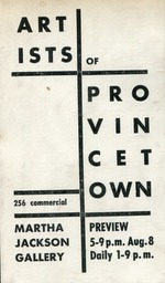 1958 Artists of Provincetown
