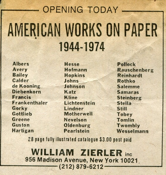 1975 American Works on paper