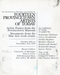 1979 14 Provincetown Artists of Today