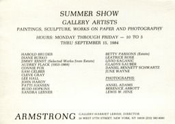 1984 Summer Show Armstrong Gallery