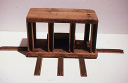 1990 untitled wood altar 10.25x7x21.5
