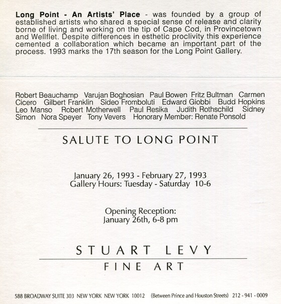 1996 Stuart Levy Gallery