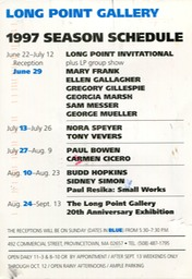1997 long point schedule
