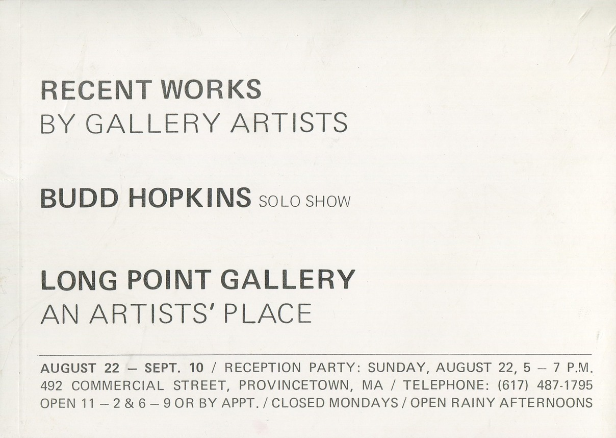 Long Point BH solo show date unknown