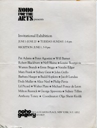 Noho for the Arts no year on card